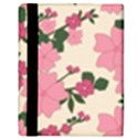 Vintage Floral Wallpaper Background In Shades Of Pink Apple iPad 2 Flip Case View3