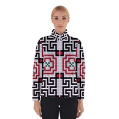 Vintage Style Seamless Black White And Red Tile Pattern Wallpaper Background Winterwear