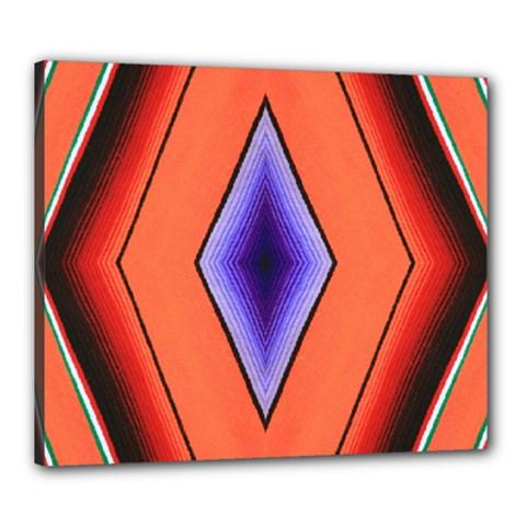 Diamond Shape Lines & Pattern Canvas 24  x 20