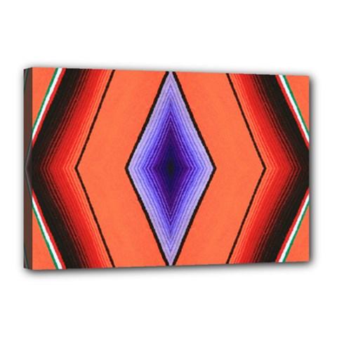 Diamond Shape Lines & Pattern Canvas 18  X 12