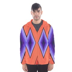 Diamond Shape Lines & Pattern Hooded Wind Breaker (Men)