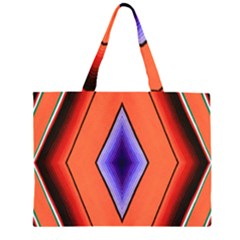 Diamond Shape Lines & Pattern Large Tote Bag