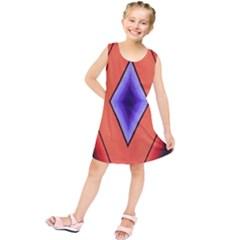 Diamond Shape Lines & Pattern Kids  Tunic Dress