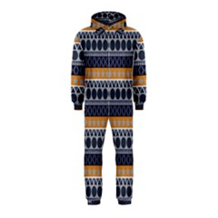 Abstract Elegant Background Pattern Hooded Jumpsuit (kids)