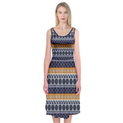 Abstract Elegant Background Pattern Midi Sleeveless Dress