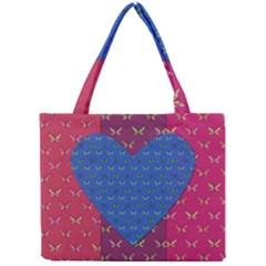 Butterfly Heart Pattern Mini Tote Bag