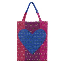 Butterfly Heart Pattern Classic Tote Bag