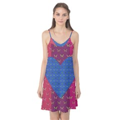 Butterfly Heart Pattern Camis Nightgown