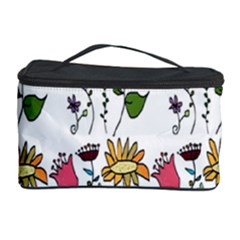 Handmade Pattern With Crazy Flowers Cosmetic Storage Case