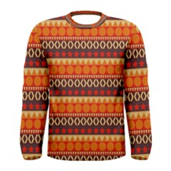 Abstract Lines Seamless Pattern Men s Long Sleeve Tee