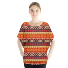 Abstract Lines Seamless Pattern Blouse