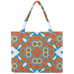 Digital Computer Graphic Geometric Kaleidoscope Mini Tote Bag