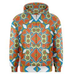 Digital Computer Graphic Geometric Kaleidoscope Men s Zipper Hoodie
