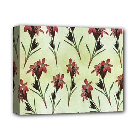 Vintage Style Seamless Floral Wallpaper Pattern Background Deluxe Canvas 14  x 11