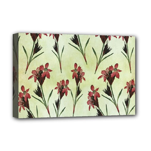 Vintage Style Seamless Floral Wallpaper Pattern Background Deluxe Canvas 18  x 12