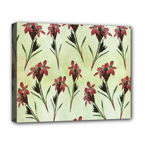 Vintage Style Seamless Floral Wallpaper Pattern Background Deluxe Canvas 20  x 16