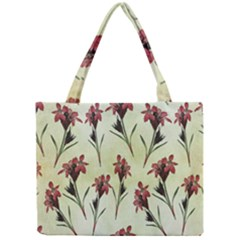 Vintage Style Seamless Floral Wallpaper Pattern Background Mini Tote Bag