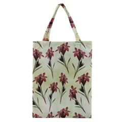 Vintage Style Seamless Floral Wallpaper Pattern Background Classic Tote Bag