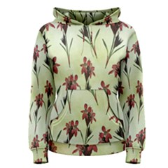Vintage Style Seamless Floral Wallpaper Pattern Background Women s Pullover Hoodie