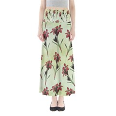Vintage Style Seamless Floral Wallpaper Pattern Background Maxi Skirts