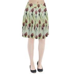 Vintage Style Seamless Floral Wallpaper Pattern Background Pleated Skirt