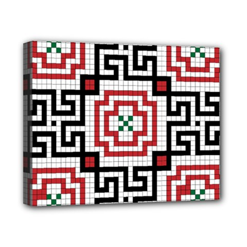 Vintage Style Seamless Black, White And Red Tile Pattern Wallpaper Background Canvas 10  X 8