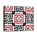 Vintage Style Seamless Black, White And Red Tile Pattern Wallpaper Background Canvas 10  x 8  View1