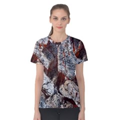 Wooden Hot Ashes Pattern Women s Cotton Tee