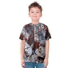 Wooden Hot Ashes Pattern Kids  Cotton Tee