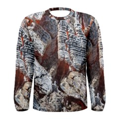 Wooden Hot Ashes Pattern Men s Long Sleeve Tee