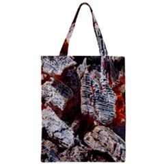Wooden Hot Ashes Pattern Zipper Classic Tote Bag