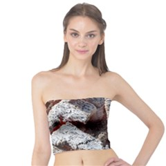 Wooden Hot Ashes Pattern Tube Top