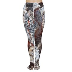 Wooden Hot Ashes Pattern Women s Tights