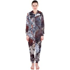 Wooden Hot Ashes Pattern Hooded Jumpsuit (ladies)