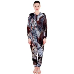 Wooden Hot Ashes Pattern Onepiece Jumpsuit (ladies)