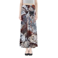 Wooden Hot Ashes Pattern Maxi Skirts