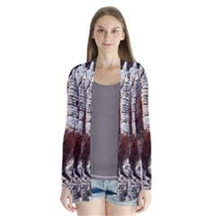 Wooden Hot Ashes Pattern Cardigans