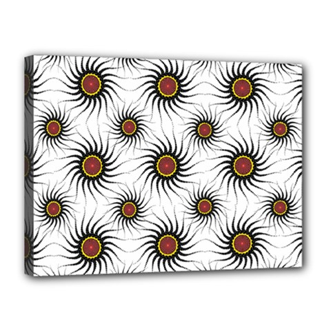 Pearly Pattern Half Tone Background Canvas 16  X 12