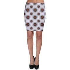 Pearly Pattern Half Tone Background Bodycon Skirt