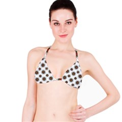 Pearly Pattern Half Tone Background Bikini Top