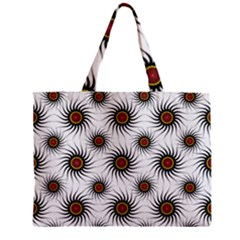 Pearly Pattern Half Tone Background Zipper Mini Tote Bag