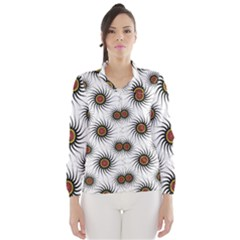 Pearly Pattern Half Tone Background Wind Breaker (women)