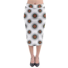 Pearly Pattern Half Tone Background Midi Pencil Skirt