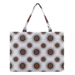 Pearly Pattern Half Tone Background Medium Tote Bag