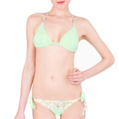 Seamless Abstract Background Pattern Bikini Set