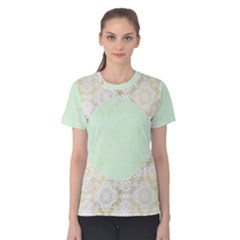Seamless Abstract Background Pattern Women s Cotton Tee