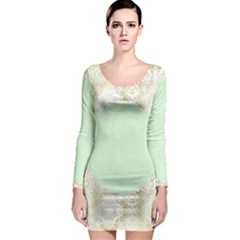 Seamless Abstract Background Pattern Long Sleeve Bodycon Dress