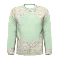Seamless Abstract Background Pattern Men s Long Sleeve Tee