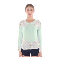 Seamless Abstract Background Pattern Women s Long Sleeve Tee
