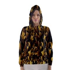 Loral Vintage Pattern Background Hooded Wind Breaker (Women)